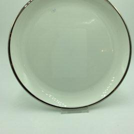Bord 27,5 cm. rand zilver