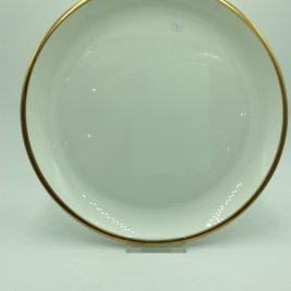 Bord 23,5 cm. rand goud