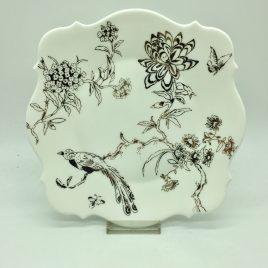 Wedgwood – Jasper Conran – Baroque Chinoiserie Platinum ontbijt bordje 23 cm.