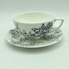 Wedgwood – Jasper Conran – Chinoiserie Blue thee kop en schotel