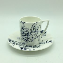Wedgwood – Jasper Conran – Chinoiserie Bleu espresso kop en schotel