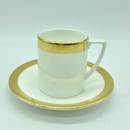 Wedgwood – espresso kop en schotel – Jasper Conran Gold