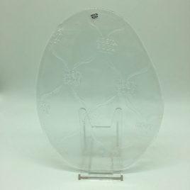 Kosta Boda – bordje glas ovaal 22 cm.