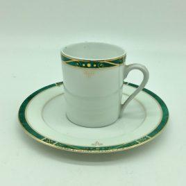Philippe Deshoulieres – Scala groen – espresso kop en schotel