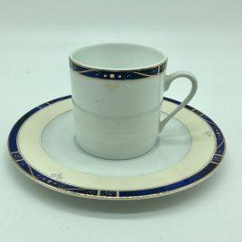 Philippe Deshoulieres – Scala blauw – koffie kop en schotel