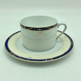 Philippe Deshoulieres – Scala blauw  – thee kop en schotel