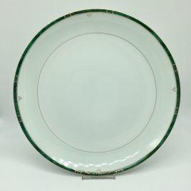 Philippe Deshoulieres – Scala groen – platte serveer schaal 30 cm.