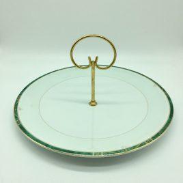 Philippe Deshoulieres – Scala groen – serveerschaal 28 cm. met handvat
