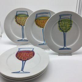 Jersey Pottery – 6 bordjes 19 cm. – Sommelier