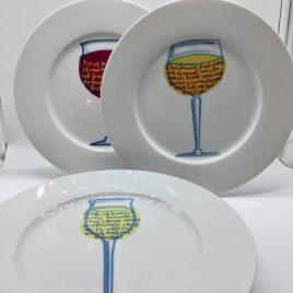 Jersey Pottery – 6 bordjes 26 cm. – Sommelier