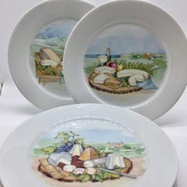 Yves Deshoulieres – kaasbordjes 6 stuks – Porcelaine de Sologne