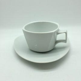 Rosenthal – thee kop en schotel – Flash wit -Dorothy Hafner