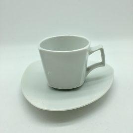 Rosenthal – espresso kop en schotel – Flash wit -Dorothy Hafner