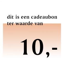 Cadeaubon – € 10,00