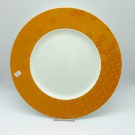 Hutschenreuther – onderbord 31 cm oranje .- Lavina