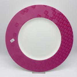 Hutschenreuther – onderbord 31 cm. roze – Lavina
