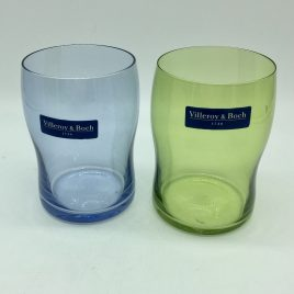 Villeroy & Boch – 2 x gekleurd glas