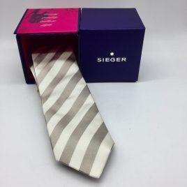 Sieger – stropdas zijde -zand / gebroken wit