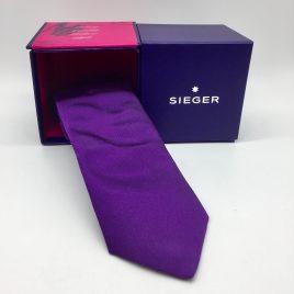 Sieger – stropdas zijde – paars