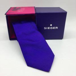 Sieger – stropdas zijde – paars/blauw