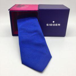 Sieger – stropdas zijde – konings blauw