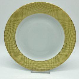 Rosenthal – ontbijt/desserbord 21 cm. – Classic – Princess geel/goud