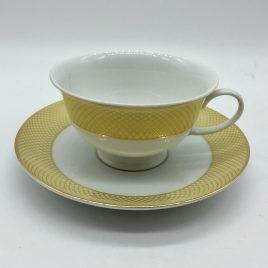 Rosenthal – thee kop en schotel – Classic – Princess geel/goud