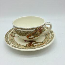 Gien -chevaux du vent – thee/ koffie kop en schotel