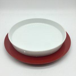 Driade Kosmo -diep bord 20 cm en melamine onderplaat – Miammiam – Philippe Starck