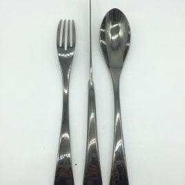 La Tavola – diner couvert – New Wave – Zwart glanzend titanium