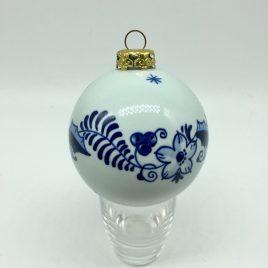 Royal Delft – kerstbal 8 cm.- hand beschilderd – gesigneerd