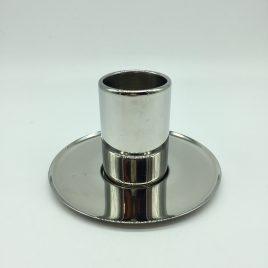 Alessi – espresso kop en schotel rvs – Jean Nouvel. outlet model. krasjes.