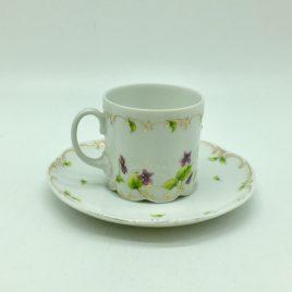 Rosenthal –  Petite Violette – espresso kop en schotel