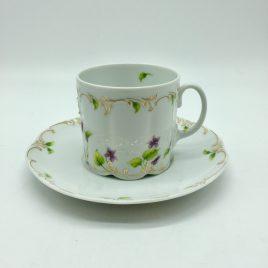 Rosenthal –  Petite Violette – koffie kop en schotel hoog