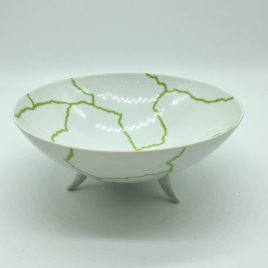 Rosenthal – Studio Line – pasta/ soep bowl groen/wit  17,5 cm. – Davide Pizzigoni