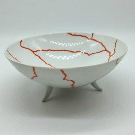 Rosenthal – Studio Line – pasta/ soep bowl  wit/oranje 17,5 cm. – Davide Pizzigoni