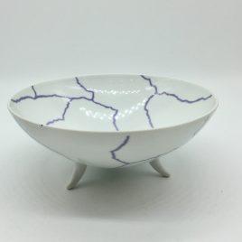 Rosenthal – Studio Line – pasta/ soep bowl  paars/wit  17,5 cm. – Davide Pizzigoni