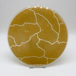 Rosenthal – Studio Line – ontbijt bord glas 22 cm. zand – Davide Pizzigoni