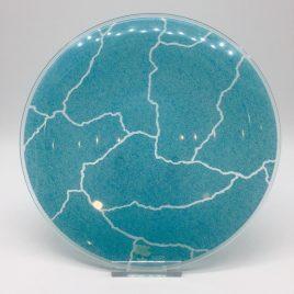 Rosenthal – Studio Line – ontbijt bord glas 22 cm. aqua  – Davide Pizzigoni