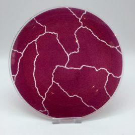 Rosenthal – Studio Line – ontbijt bord glas 22 cm. paars – Davide Pizzigoni