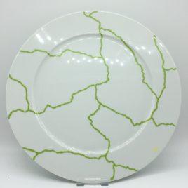 Rosenthal – Studio Line – onderbord 33 cm. groen/wit – Davide Pizzigoni