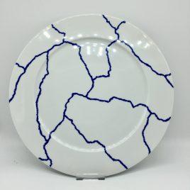 Rosenthal – Studio Line – onderbord 33 cm. blauw/wit – Davide Pizzigoni