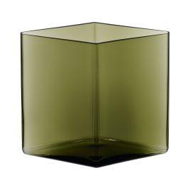 Iittala – Ruutu vaas mos groen 20,5 x 18 cm. – Maljakko