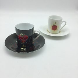 Philippe Deshoulieres – set van 2 espresso kop en schotels – Auca de Salvador Dali – limited edition