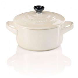 Le Creuset – mini cocotte 10 cm crème kleur – porselein