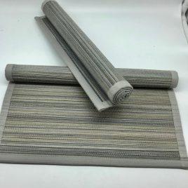 Sander bamboo placemats – grijs –  34 x 49 cm. – set van 2