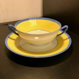 Robert Haviland et C. Parlon –  Limoges – Monet – soep kop en schotel – vintage