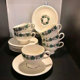 Wedgwood – Stratford – koffie kop ( 8 cm) en schotel – Vintage