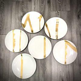 Driade – The white snow Moi – 6 diner borden –  nr 7 t/m 12
