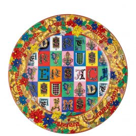 Versace – by Rosenthal – Holiday Alphabet – Christmas plate 32 cm 2019